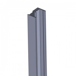 U-Profil 44 mm, 2-Teilig